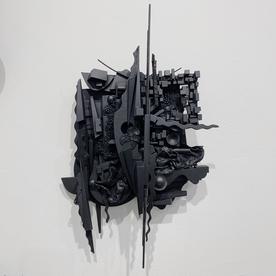 "Peter Pittman Peter Pittman, miniatures [maquettes] series I.c _ III, wood, vinyl, fabric, metal, paint, 15 x 9.5 x 3.5"""