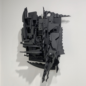 "Peter Pittman Peter Pittman, abandoned [Memories] I ...fragmented matter, wood, paint, 30 x 21 x 10"""