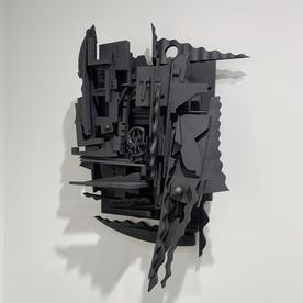 "Peter Pittman Peter Pittman, abandoned[Memories] I ...fragmented matter, wood, paint, 30 x 21 x 10"""