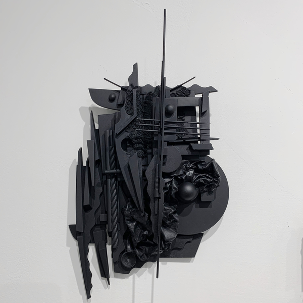 "Peter Pittman Peter Pittman, miniatures [maquettes] series I.c _ II, wood, vinyl, fabric, metal, paint, 15 x 9.5 x 3.5"""