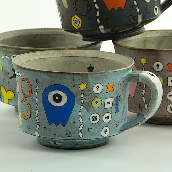 "Masa Sasaki Masa Sasaki, One Eyed Alien Mug, 2.75 x 5.5 x 4.25"""