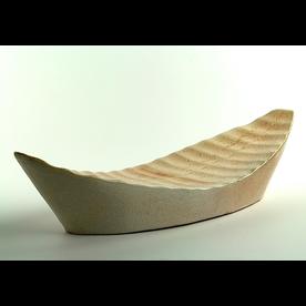 "Nancy Green Nancy Green, Boat, stoneware, 5 x 22 x 7.5"""