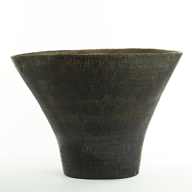 Nancy Green Nancy Green, Flared Vase, stoneware, woodfired,  9.25 x 13 x 5.75""