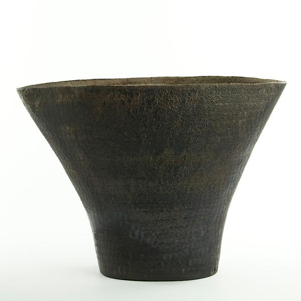 "Nancy Green Nancy Green, Flared Vase, stoneware, woodfired,  9.25 x 13 x 5.75"""