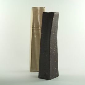 "Nancy Green Nancy Green, Tall Wedge Vase, stoneware,  15 x 4 x 3.25"""