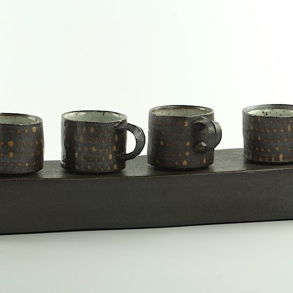 "Nancy Green Nancy Green, Espresso Cup, stoneware, 2 x 3.5 x 2.75"""