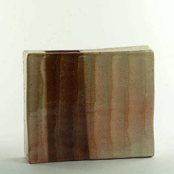 """Nancy Green Nancy Green, Asymmetrical Vase, stoneware, 9 x 10.25 x 2.5"""""""