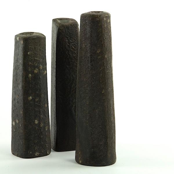 """Nancy Green Nancy Green, Bud Vase, stoneware, 7 x 1.75 x 1.5"""""""