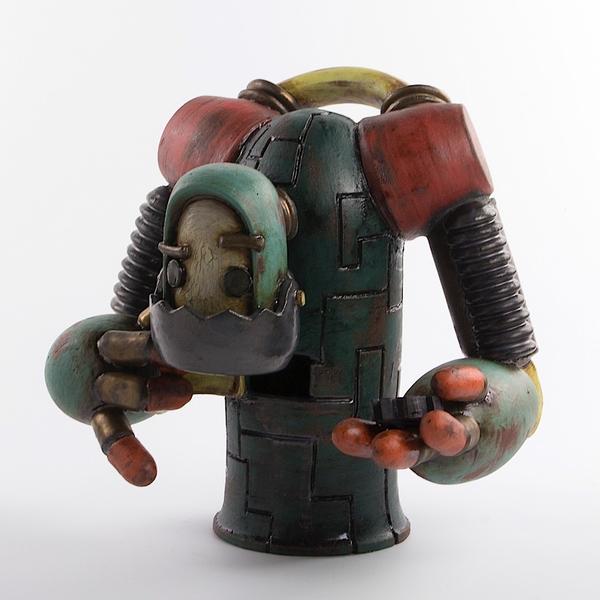 "Michael Klapthor Michael Klapthor, Tin Man Robot, 9.25 x 10 x 7"""