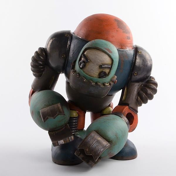 """Michael Klapthor Michael Klapthor, PX-123, Rougue Construction Robot, 10 x 10 x 9.5"""""""