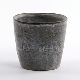 Joe Pintz Joe Pintz, Small Cup, handbuilt earthenware, 4 x 5.75 x 1.25""
