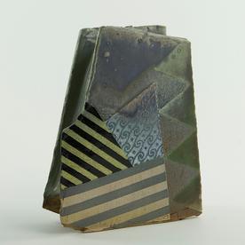"""Barry Rhodes Barry Rhodes, Sculpture Vase, stoneware, slip, underglaze, 7.5 x 6 x 2.5"""""""