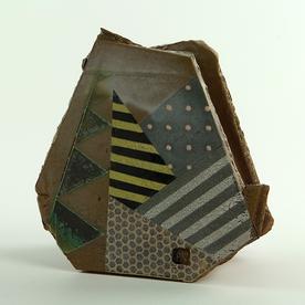 """Barry Rhodes Barry Rhodes, Sculpture Vase, stoneware, slip, underglaze,  6.5 x 6.5 x 3.25"""""""