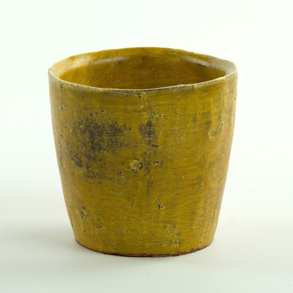"Joe Pintz Joe Pintz, Small Cup, handbuilt earthenware, 4 x 5.75 x 1.25"""