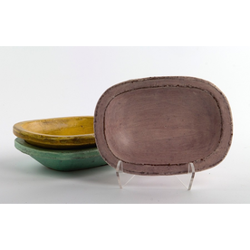 Joe Pintz Joe Pintz, Small Dish, handbuilt earthenware, 4 x 5.75 x 1.25""