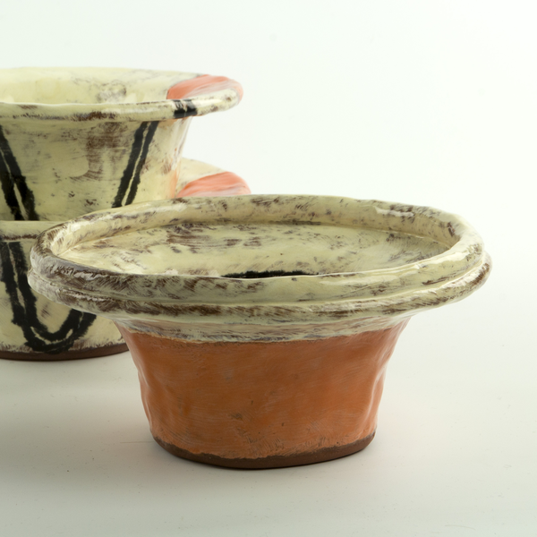 Holly Walker Holly Walker, Top Hat Bowl, terra cotta, glaze, 2.5h x 6.25""