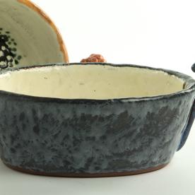 "Holly Walker Holly Walker, Muscari Bowl, terra cotta, glaze, 4 x 8 x 5.75"""