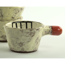 Holly Walker Holly Walker, Bee Cup, terra cotta, glaze, 2.5h x 6 x 4""