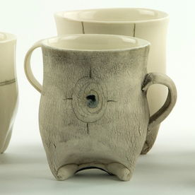 "Annette Gates Annette Gates, Rolled Foot Mug, porcelain, 3.75 x 3.75 x 2.75"""