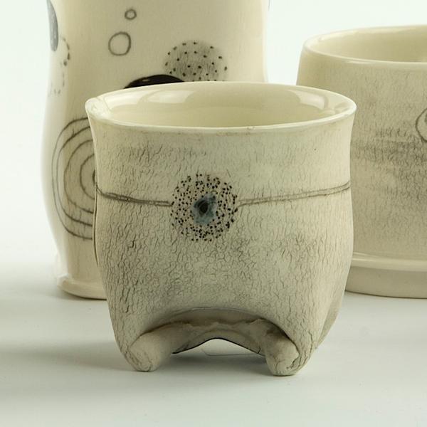 """Annette Gates Annette Gates, Tiny Cup, porcelain, 2.5 x 2.5 x 2.25"""""""