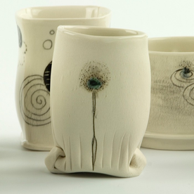"""Annette Gates Annette Gates, Tiny Cup, porcelain, 3.25 x 2.25 x 1.75"""""""