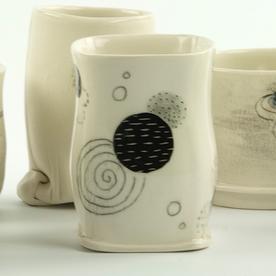 """Annette Gates Annette Gates, Tiny Cup, porcelain, 3.25 x 2.25 x 2.25"""""""