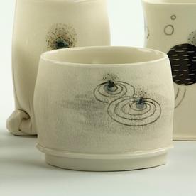 """Annette Gates Annette Gates, Flat Foot Yunomi, porcelain, 2.5 x 3 x 2.5"""""""