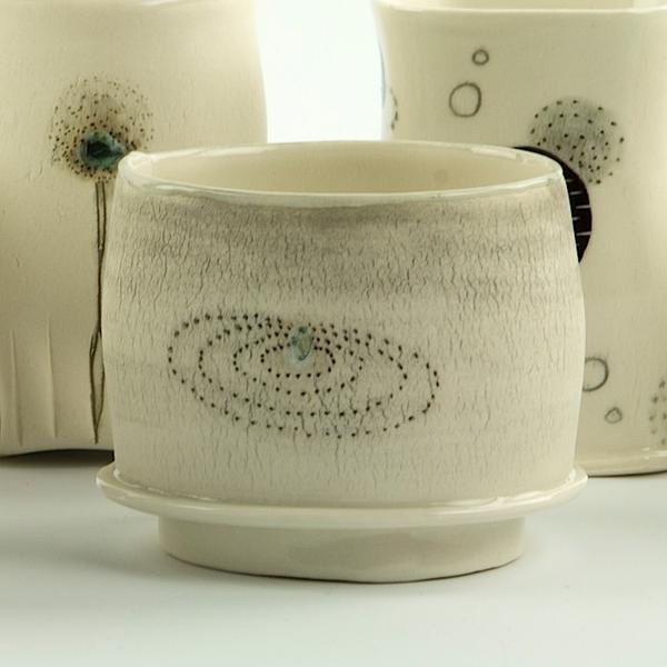 """Annette Gates Annette Gates, Flat Foot Yunomi, porcelain, 2.5 x 3.25 x 2.75"""""""