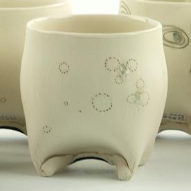 "Annette Gates Annette Gates, Rolled Foot Wine Cup, porcelain, 3.25 x 3.25 x 3"""