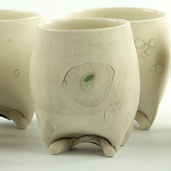 Annette Gates Annette Gates, Rolled Foot Wine Cup, porcelain, 3.5 x 3 x 2.75""
