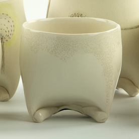 Annette Gates Annette Gates, Rolled Foot Wine Cup, porcelain, 3 x 3 x 2.75""