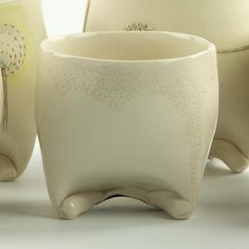 "Annette Gates Annette Gates, Rolled Foot Wine Cup, porcelain, 3 x 3 x 2.75"""
