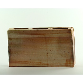 Nancy Green Nancy Green, Rectangular Vase, stoneware, Wood Fired, 7 x 12 x 2""