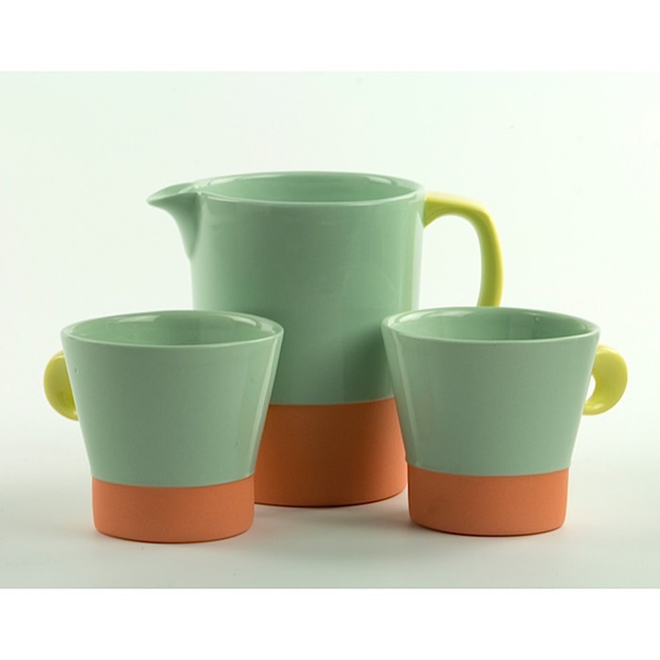 "Jessie Bean Jessie Bean, Pitcher & Demi Cups Set, 4.75 x 3.5"" 3 x 3.25"""