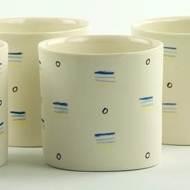 """Jessie Bean Jessie Bean, Pattern Cup, 3.25 x 3.25 x 3"""""""