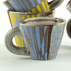"Zak Helenske Zak Helenske, Cup, terracotta, porcelain, 2.75 x 3.25"""