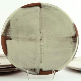 """Zak Helenske Zak Helenske, Dinner Plate, terracotta, porcelain, 9.75"""""""