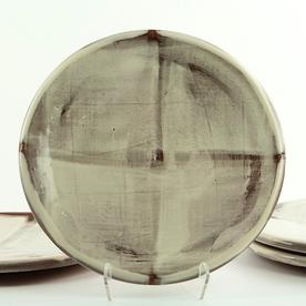 """Zak Helenske Zak Helenske, Dinner Plate, terracotta, porcelain, 8.75"""""""