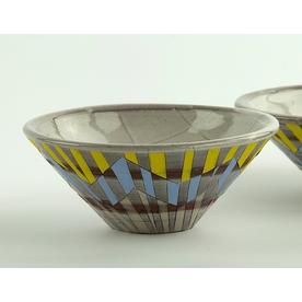 "Zak Helenske Zak Helenske, Bowl, terracotta, porcelain, 2.25 x 5.5"""
