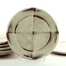 """Zak Helenske Zak Helenske, Dinner Plate, terracotta, porcelain, 9.25"""""""
