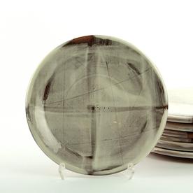 """Zak Helenske Zak Helenske, Dinner Plate, terracotta, porcelain, 8.5"""""""
