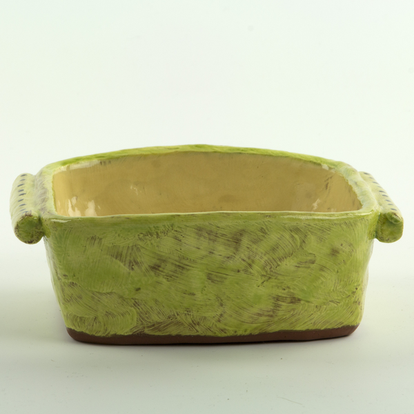 Holly Walker Holly Walker, Square Serving Bowl, terra cotta, glaze, 2.5 x 6.5 x 5.5""