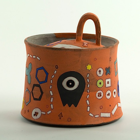 "Masa Sasaki Masa Sasaki, One Eyed Alien Sugarpot, 4 x 4.25"""