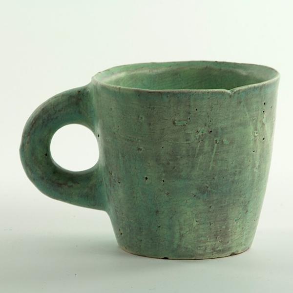 "Joe Pintz Joe Pintz, Mug, handbuilt earthenware, 3.25 5 x 3.5"""