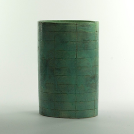 Joe Pintz Joe Pintz, Large Oval Vase, handbuilt earthenware, 10.5 x 7 x 5""