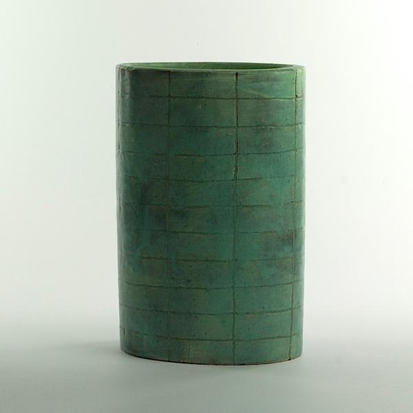 """Joe Pintz Joe Pintz, Large Oval Vase, handbuilt earthenware, 10.5 x 7 x 5"""""""