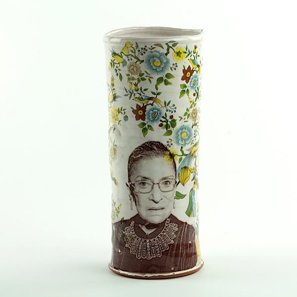 """Justin Rothshank Justin Rothshank, Vase, Bader Ginsburg, 10 x 4"""""""