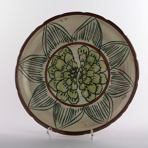 """Maria Dondero Maria Dondero, Platter, earthenware, 12"""""""