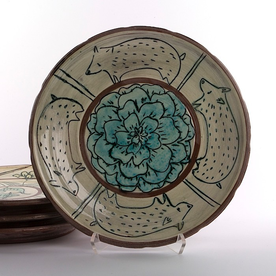"Maria Dondero Maria Dondero, Dinner Plate, earthenware, 10"""