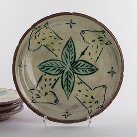 "Maria Dondero Maria Dondero, Dinner Plate earthenware, 9"""